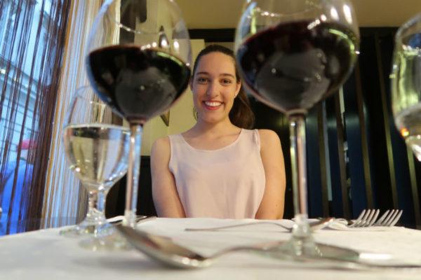 Martina al ristorante